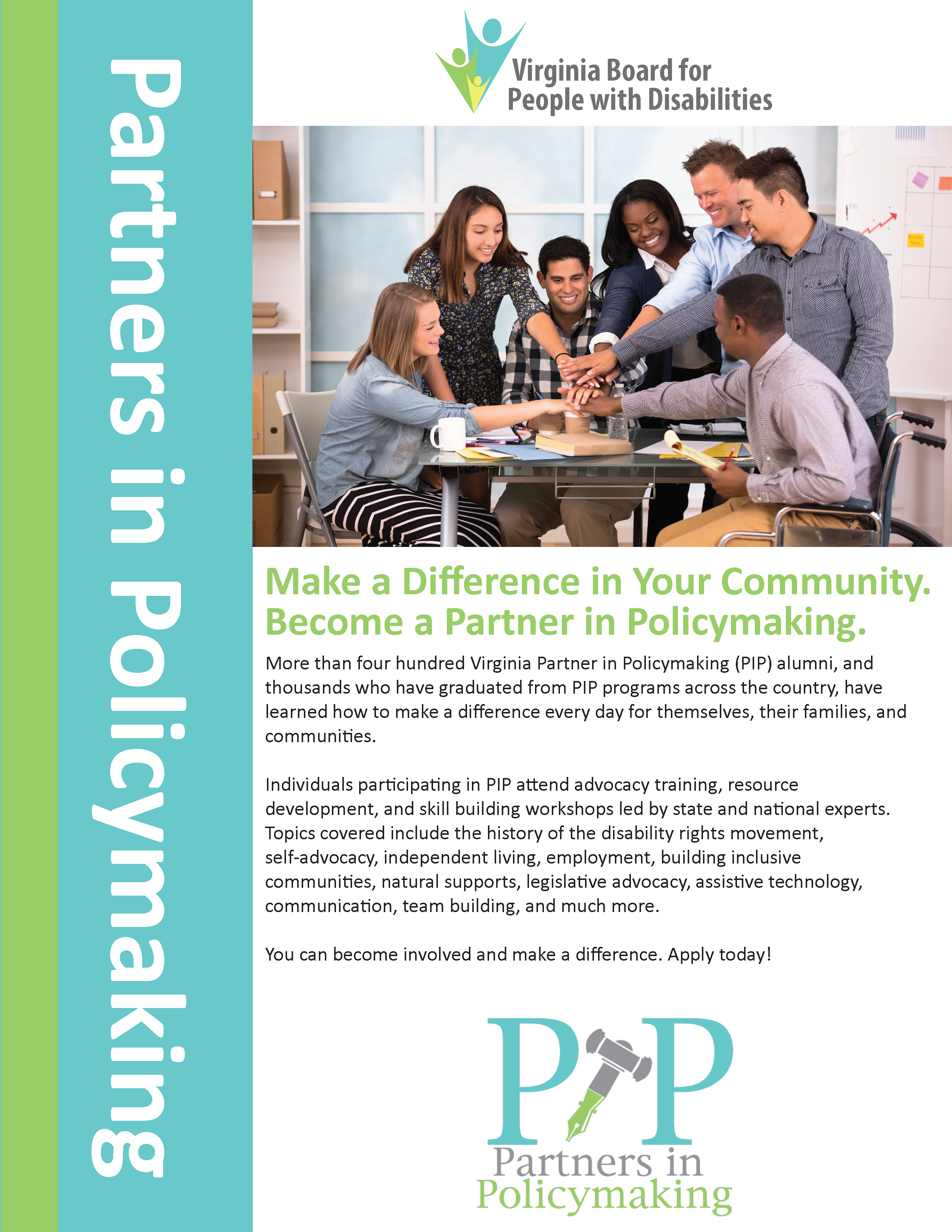 Partners in Policy Making Flyer. Available as a PDF download on this site.